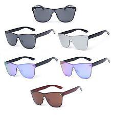 Shield Retro Shades Rimless Aviator Fashion Men Women Sunglasses
