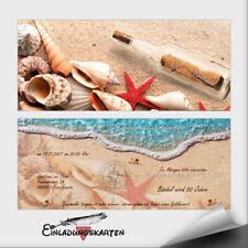 Einladungskarten Geburtstag ● Geburtstagseinladung Flaschenpost ●10 20 30 40 50