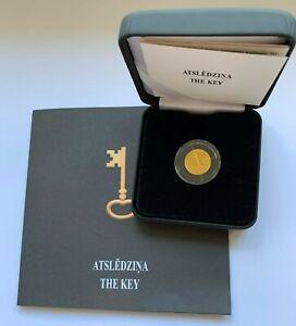 2021 Latvia 5 € coin  --- THE KEY ---Gold---