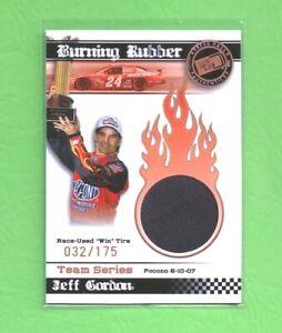 Jeff Gordon 2008 Press Pass Burning Rubber Race Used Win Tire SP 32/175   A1