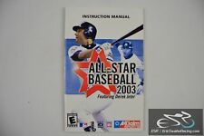 All-Star Baseball Featuring Derek Jeter Acclaim Sports 2003 Playstation 2 Manual