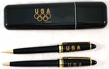 Vintage Olympic USA Pen & Pencil Set in Carrying case