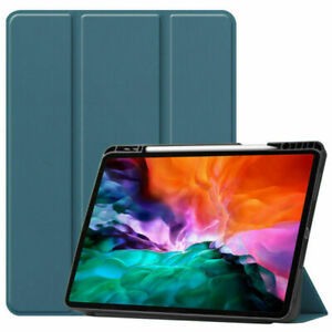 Tablet Case Leather Flip Cover With Pen Slot For IPAD PRO 12.9in 2021/2020/2018