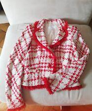 Escada Blazer Jacke Boucle neuw. 36 S, rot-weiß Luxus Traum
