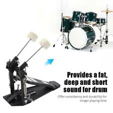 Double Bass Drum Pedal Dual Foot Kick Percussion Drum Set Accessories Black NEW