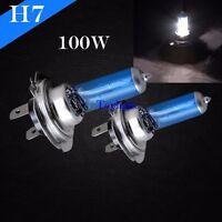 H7 Super White 5000K Xenon Halogen Headlight 100w 12v Lamp Light Bulb High Beam