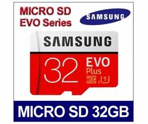 SAMSUNG EVO PLUS MICRO SD SDHC SDXC 32 gb 64 gb SCHEDA DI MEMORIA CLASSE 10