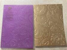 ANNA GRIFFIN BOHEMIAN VINES L 5x7 Embossing Folder HTF