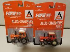 1/64 Allis Chalmers 7060 Tractor by ERTL NIP! RARE Orange Chrome Edition!