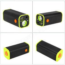 Multifunction 4x18650 Battery Storage Case Box Holder For Bike LED Light iPhone
