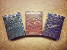 Monarch Playing Cards 3 Deck Set of Blue Green and Red From Theory11 USPCC
