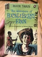 The Adventures of Huckleberry Finn, Mark Twain Vintage Dell Paperback 1960 1st!