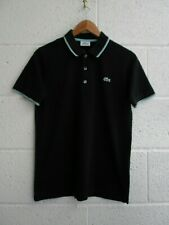 LACOSTE SPORT POLO SHIRT, DEVANLAY, SIZE - 3 / SMALL, BLACK, EXCELLENT CONDITION