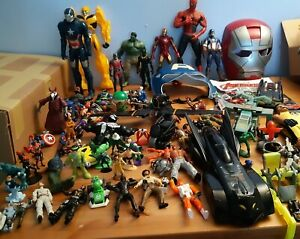 Mixed bundle of action figures, Accessories & Vehicles, Not Complete