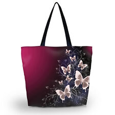 Foldable Shopping Handbags Grocery Bags Butterflies Reusable Supermarket Tote