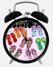 "Flip Flops Alarm Desk Clock 3.75"" Home or Office Decor Z26 Nice For Gift"