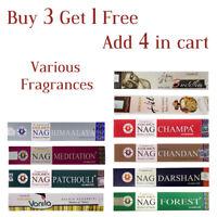 Vijayshree Genuine Golden Nag Series Joss Incense Sticks 15g- Buy 3 Get 1 Free