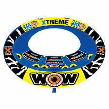 Wow Sports 3 Person XO Extreme Oval Shaped Inflatable Towable Rider Tube, Blue