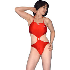 Sexy Monokini Body Brillant Rouge S-M Maillot de Bain String Tenue Gymnastique,