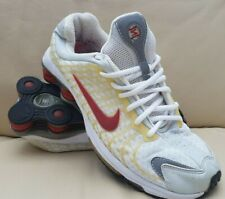 NIKE SHOX WHITE/SILVER/GOLD TRAINERS/SHOES (2003) ADULT/MENS/BOYS SIZE 8 UK
