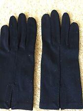 Christian Dior Vintage Victorian Dark Blue Nylon Gloves Sz 7