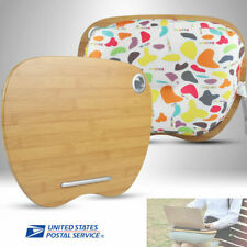 """3 in1 Portable MDF Pillow Lap Desk Laptop Tray For 14""""Computer Book Pad Nap"""