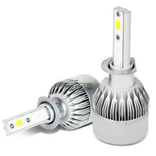 6000K H1 WHITE LED HIGH/LOW BEAM POWER SAVE HEADLIGHT BULBS SET +COOLING FAN