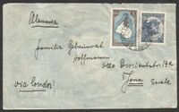 ARGENTINA to GERMANY 1936 Via LATI Cover VF
