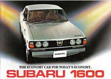 Subaru 1600 Saloon Estate Coupe DL GL GFT 4WD 1977 Original UK Market Brochure