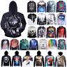 Hoodie Jacket Coat 3D Graphic Print Pullover Jumper Hooded Sweatshirt Unisex Top