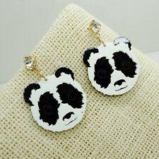 Cute Panda Earrings Crystal Rhinestone Jewelry Animal Ear Stud Fashion Women New