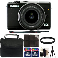 Canon EOS M100 24.2MP Mirrorless Digital Camera with 15-45mm Lens and Deluxe Kit