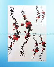 """Plum Blossom 8.25""""extra large temporary arm tattoo Body Jewelry Inspired"""