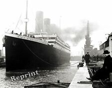 Historical Photograph of Steamship RMS Titanic 1912 Maiden Voyage England 8x10