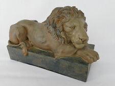 ruhender Löwe Tempelwächter Skluptur Figur Vintage Dekofigur Türwächter NY09-a