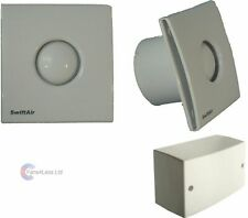 """STY100 Humidity Timer Std 12v 4"""" Extractor Bathroom Shower Fan Low Noise Zone1-2"""