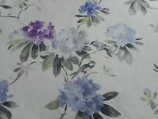 Sanderson Curtain Fabric 'Rhodera' 1 METRE (100cm) Grape - 100% Linen