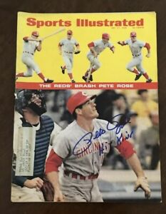 PETE ROSE signed Sports Illustrated 5-27-1968 1st Cover Auto Autograph Tristar