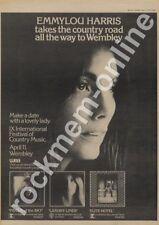 Emmylou Harris April 11th Wembley, London Elite Hotel LP/show Advert 1977