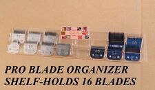 Pro Grooming Organizer Case CLIPPER BLADE HOLDER SHELF for Oster,Andis,Wahl,etc