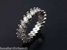 Platinum Marquise Cut Diamonds Full Eternity Ring 2.00 carats G-SI Hallmarked