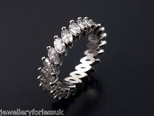 Platinum Marquise Cut Diamonds Full Eternity Ring 2.00 carats G-SI Hallmarked