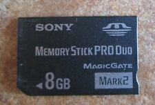 8GB SONY Memory Stick Pro duo for Sony cybershot Cameras,PSP