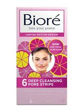 Bioré - Citrus Crush Deep Cleansing Pore Strips Limited Edition x 6  New In Box