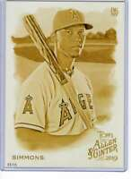 Andrelton Simmons 2019 Allen and Ginter 5x7 Gold #217 /10 Angels