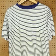 vtg 90's usa HANES t shirt XL boxy surfer stripes vaporwave grunge skater