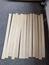 680mm .FREE POST Double Pair of Beach Replacement Curved Wooden Bed Slats