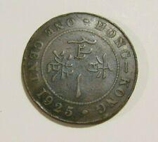 Hong Kong 1925 1 Cent Coin