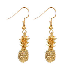 Unique Gold Fruit Pineapple Pendant Ear Hook Earrings Alloy Eardrop Jewelry Gift