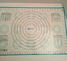 Platinum Silicone Cooking Mat With Measurement Conversion Charts White